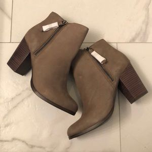Grey/brown suede leather boots. Never worn.